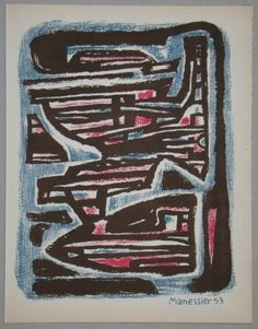Lithographie - Alfred Manessier - Composition, 1953