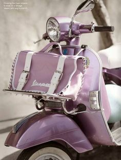 Fine Restored Classic Vespa Scooters from Star Vespa. Featuring Beautiful Fully Restored Vintage Vespa models 1960 to 1990 VBB, VBC, VLB, Smallframes, PX and Lambretta. Purple Love, All Things Purple, Purple Rain, Shades Of Purple, Purple Stuff, Periwinkle, Light Purple, Girly Stuff, Vintage Vespa