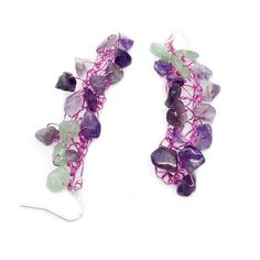 Rose silver plated wire earrings with amethysts and jade stones  #roseearrings #amethyst #jade #summerearrings #maria_kanale #contemporaryjewellery #greekdesigners #newcollection Jade Earrings, Yellow Earrings, Statement Earrings, Purple Daisy, Greek Jewelry, Jade Stone, Silver Roses, Gemstone Colors, Gemstone Jewelry