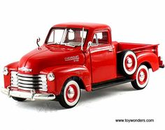 Signature Models - Chevy Pickup Truck (1953, 1/32 scale diecast model car, Red) 32382