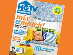 It's in the fabric shades and window-seat cushion on the cover of the April 2014 issue