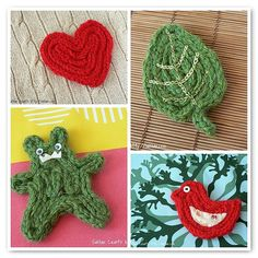 Knitted I-cord Coasters by :Salihan, via Flickr