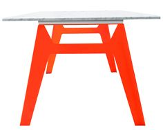 Bright Ideas: Steel and Marble Table