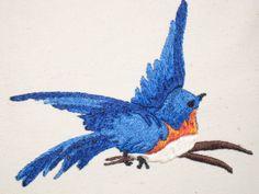 Bluebird of Happiness!   ilovefiberart.blogspot.com