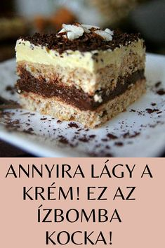 Hungarian Desserts, Hungarian Recipes, Sweet Recipes, Cake Recipes, Dessert Recipes, Osho, Cake Bars, Ground Beef Recipes, Winter Food