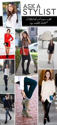 2 / 3 / 4 / 5 / 6 / 7 I have received several questions from readers about styling ankle boots so today I thought I would share a few of my favorite ways to wear ankle boots for fall and winter. Seven Ways to Wear Ankle Boots Heading out for the evening Ankle Boots With Leggings, How To Wear Ankle Boots, Girls In Leggings, Black Leggings, Ankle Booties, Casual Winter Outfits, Fall Outfits, Cute Outfits, Grunge Outfits