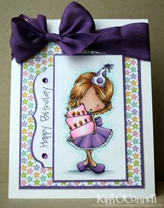 """Paper Perfect Designs by Kim O'Connell: Tiddly Inks """"Birthday Wishes"""" clear stamp set"""