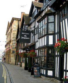 Stratford-Upon-Avon, Warwickshire, England, United Kingdom.  I used to live just 20 minutes away from here and loved to walk the streets and shop in the wonderful shops that can only be found in Stratford upon Avon, England.