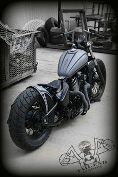 vt600 custom with flat gray black paint