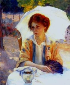 Jean Mannheim (American artist, 1861–1945) Lonely Tea Party
