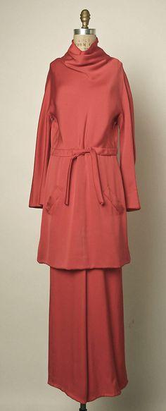 Evening Pantsuit, Valentino, 1970-75, Italian, silk