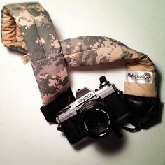 """""""Army Guy - ACU"""" Padded Camera Strap from ACU's that served in Iraq."""