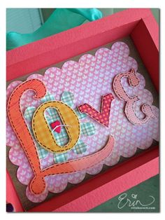 Adorable shadowbox from Erin Bassett, featuring the Cloud 9 Fiesta collection from Colorbök