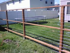Wire fence could work good in my yard for growing vines