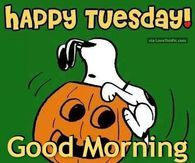 Halloween Snoopy Happy Tuesday Good Morning Quote