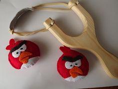 Angry Birds em feltro!