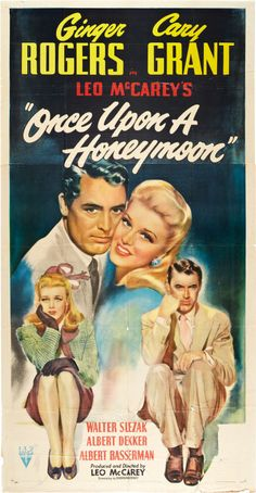 """Once Upon a Honeymoon (RKO, 1942). """"The name is Katharine Buttsmith."""" One of my all time favorite movies."""