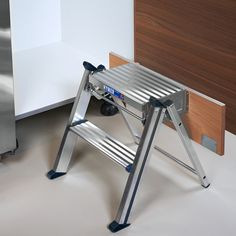 Poggenpohl Accessories - Fold-away step ladder in plinth - folded out