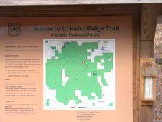 Trail head at Nebo Ridge.