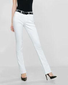 white mid rise stretch skyscraper jeans