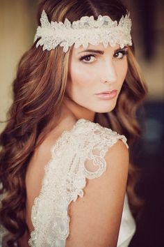veils and headpieces | Maggie Sottero headpiece. Swooned: Spring Fever: A Seasonal Shoot with ...