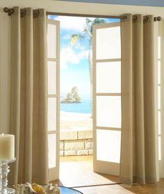 Malibu is a casual grommet-top curtain design. Resembles duck cloth, available in 5 popular color with antique brass grommets 1 diameter. Cheap Curtains, Grommet Curtains, Panel Curtains, Kitchen Window Treatments, Curtain Designs, Room Darkening, Window Coverings, Bed Spreads, Home Kitchens