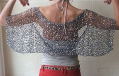 Silver firefly loose weave evening shrug by ileaiye on Etsy, $70.00