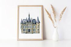 Excited to share this item from my #etsy shop: Magic Castle Wall Art, Paris Wall Art, Vogue Wall Art, Girly Wall Art, Art Nouveau Print, UK Wall Art, Modern Pop Art Print, Trendy Wall Art