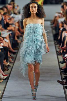 Yes, I want a fluffy blue dress. Oscar de la Renta Spring 2012 RTW