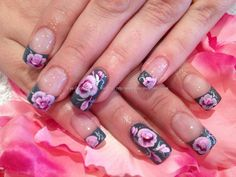 One stroke nail art I love one stroke. I really need to learn to do this