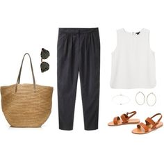 """City summer"" Definitely taking this kind of outfit on all my trips this summer! Spring Summer Fashion, Spring Outfits, Bon Look, Style Feminin, Minimal Fashion, Capsule Wardrobe, Everyday Fashion, Casual Chic, What To Wear"