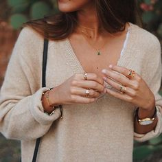 accessorize your monday #fluxuryss #street #style #streetstyle #girl #girly #gold #accessories #look #lookbook #dailylook #ootd #knitwear #rings #sweater #trends #trendy #blog #blogger #inspiration #fall #winter #longhair #hair #fashion #beauty #closet #monday #messy