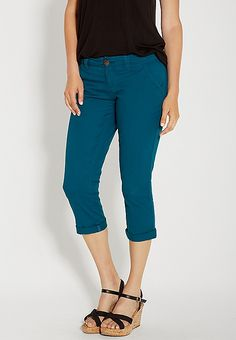 chino capri in paradise teal | maurices