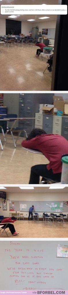 The price of falling asleep in class