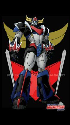 Grendizer UFO Big Robots, Cool Robots, Arte Robot, Robot Art, Robot Cartoon, Cartoon Art, Ufo, Gundam, Japanese Robot