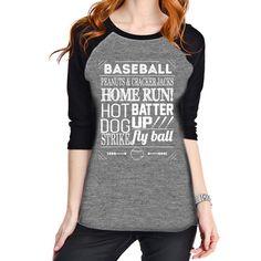 a6489576d36fce Katydid Peanuts and Cracker Jacks Wholesale Raglan Tees Best Baseball  Games, Baseball Tees, Vintage