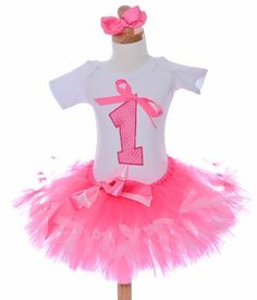 Pink Fancy October Birthday Girls Tutu Outfit