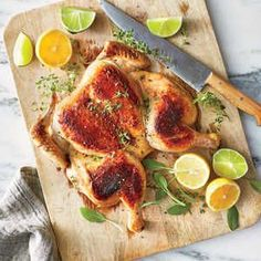 You can ask your supermarket butcher to spatchcock (butterfly) the chicken for you.