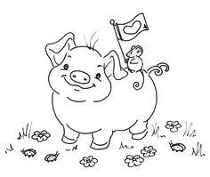 Sliekje digi Stamps: little piggy