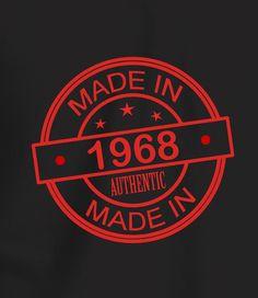 Made In 1968 - Men's 50th Birthday T shirt