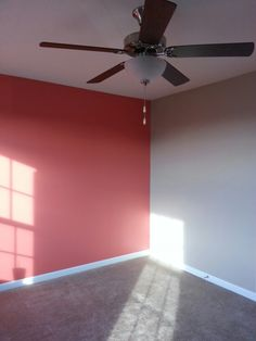 Ill post more once she gets some decor in there... Sherwin Williams coral reef and a soft tan for a guest bedroom