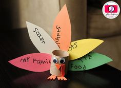 shared via nutiva.com - Your kids can show what they are thankful for with just a little construction paper, a toilet paper roll, and some glue. Great #Thanksgiving #craft idea.