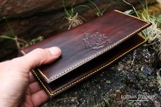 Leather wallet handmade-SR