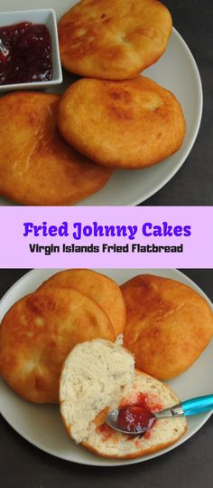 Jungferninseln Johnny Cake / Fried Johnny Cakes Source by gayathriraani Caribbean Johnny Cake Recipe, Johnny Cakes Recipe, Caribbean Recipes, Bahamian Johnny Cake Recipe, Johnny Bread Recipe, Carribean Food, Jamaican Cuisine, Jamaican Recipes, Desserts