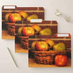 Apples and Pears File Folder Set