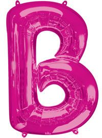 Giant Pink Letter B Ball...