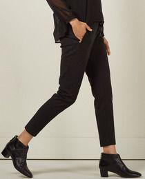 Pantalón de mujer Sfera negro con cremallera