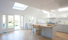 Single storey wrap-around extension – Kingston Kitchen Family Rooms, Kitchen Living, New Kitchen, Kitchen Ideas, Kitchen Doors, Open Plan Kitchen, Kitchen Interior, Kitchen Design, Kingston