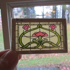 Miniature Dollhouse Artisan Barbara Sabia Stained Glass 1:12 Scale
