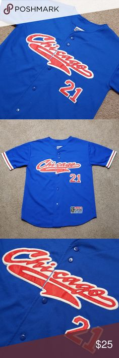 a2c8d466201 VTG Chicago Cubs Sammy Sosa MLB Blue Jersey Medium Vintage Men s Chicago  Cubs Sammy Sosa MLB